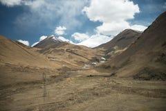 La altura del paisaje de la montaña de Himalaya y se refresca Fotografía de archivo libre de regalías