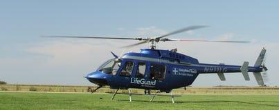 La ambulancia aérea se prepara para quita Fotografía de archivo