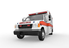 Ambulancia aislada en el fondo blanco Imagenes de archivo