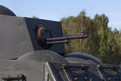 La ametralladora durante la Segunda Guerra Mundial Imágenes de archivo libres de regalías