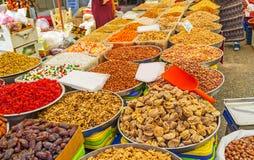 La amplia gama de nueces en Antalya Fotos de archivo libres de regalías