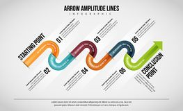 La amplitud de la flecha alinea Infographic libre illustration