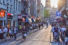 La Amsterdam cosmopolita Imagen de archivo libre de regalías