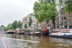 La Amsterdam hermosa en junio Fotos de archivo libres de regalías
