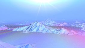 La animación abstracta 3D de la montaña polivinílica baja ajardina almacen de video