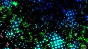 La animación abstracta del fondo de la partícula que brilla intensamente indica el gráfico con el espacio de la copia en fondo ne almacen de video