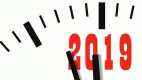 La animación de la cuenta del Año Nuevo abajo registra 60 FPS, 4K almacen de video