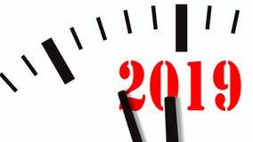 La animación de la cuenta del Año Nuevo abajo registra 60 FPS, 4K ilustración del vector