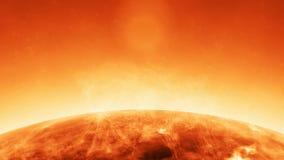 La animación de la atmósfera solar en el sol con anda de las llamas se arde metrajes