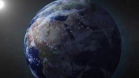 La animación de la tierra enfoca adentro en Oriente Medio stock de ilustración