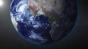 La animación de la tierra enfoca adentro en South Pole stock de ilustración
