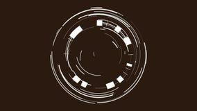 La animación de los círculos forma el backgraund almacen de metraje de vídeo