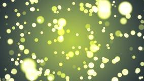 La animación de mudanza del fondo del círculo del centelleo de la suavidad abstracta defocused blured nuevo día de fiesta de la c stock de ilustración