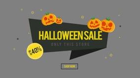 La animación de la venta de Halloween solamente esta tienda ahora hace compras stock de ilustración