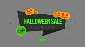 La animación de la venta de Halloween solamente esta tienda ahora hace compras libre illustration