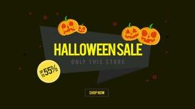 La animación de la venta de Halloween solamente esta tienda ahora hace compras ilustración del vector