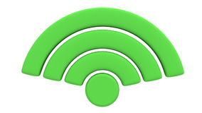 La animación del símbolo de la red inalámbrica gira stock de ilustración