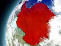 La Antártida de la órbita de Earth modelo Imagen de archivo libre de regalías