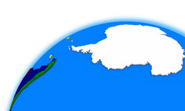 La Antártida en el globo Foto de archivo