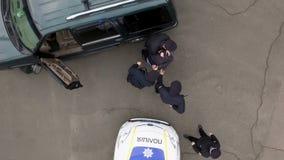 La antena, policía detuvo al delincuente almacen de video