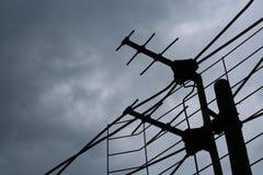 La antena y el cielo Imagen de archivo libre de regalías