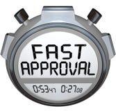 La aprobación rápida redacta la hipoteca aprobada contador de tiempo Credi del préstamo del cronómetro Foto de archivo libre de regalías