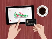 La aptitud calza compras en línea Fotos de archivo libres de regalías