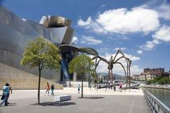 La araña gigante, el museo de Guggenheim en Bilbao Fotografía de archivo