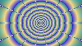 La araña plástica colorida giratoria, animación video abstracta ilustración del vector