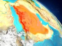 La Arabia Saudita de la órbita stock de ilustración