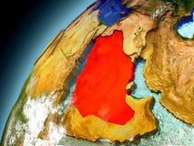 La Arabia Saudita de la órbita de Earth modelo Imagenes de archivo
