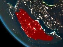 La Arabia Saudita en la noche de la órbita libre illustration