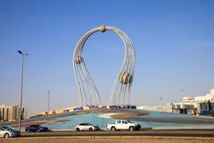 La Arabia Saudita Jedda 16 de diciembre de 2018 Dawara Falak Jeddah Falak Roundabout en la opinión de la calle de Jedda en Jedda  foto de archivo libre de regalías