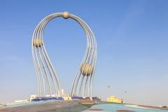 La Arabia Saudita Jedda 16 de diciembre de 2018 Dawara Falak Jeddah Falak Roundabout en la opinión de la calle de Jedda en Jedda  imagen de archivo