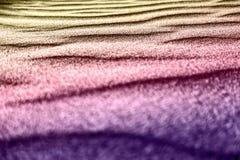 La arena colorida en la playa Foto de archivo libre de regalías