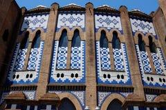 La - arena de la corrida - Barcelona monumental Foto de archivo libre de regalías