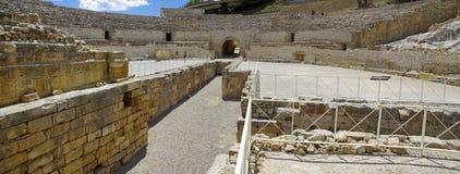 La arena de Roman Amphitheater en Tarragona, Cataluña, España Fotografía de archivo libre de regalías