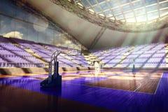 La arena del baloncesto rinde Foto de archivo