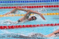 La arena internacional de la reunión de XXIIe de la natación Imágenes de archivo libres de regalías