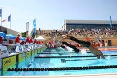 La arena internacional de la reunión de XXIIe de la natación Fotos de archivo