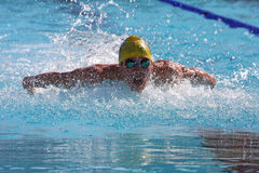 La arena internacional de la reunión de XXIIIe de la natación Imagen de archivo