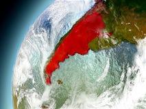 La Argentina de la órbita de Earth modelo Foto de archivo