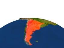 La Argentina en rojo de la órbita ilustración del vector