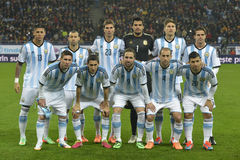 La Argentina - equipo de fútbol nacional Imagenes de archivo