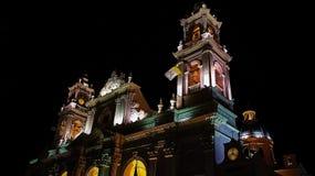 La Argentina, Salta - cuadrado de ciudad central Fotos de archivo