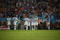 La Argentina y ALEMANIA fútbol de 2014 mundiales Fotos de archivo libres de regalías