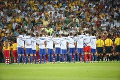 La Argentina y ALEMANIA fútbol de 2014 mundiales Fotos de archivo