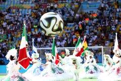 La Argentina y ALEMANIA fútbol de 2014 mundiales Fotografía de archivo