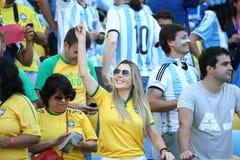 La Argentina y ALEMANIA fútbol de 2014 mundiales Imagen de archivo libre de regalías