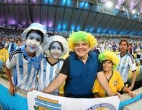 La Argentina y Bosnia fútbol de 2014 mundiales Imagenes de archivo